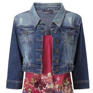 ⚠️SALE⚠️Joe Brown crop denim jacket